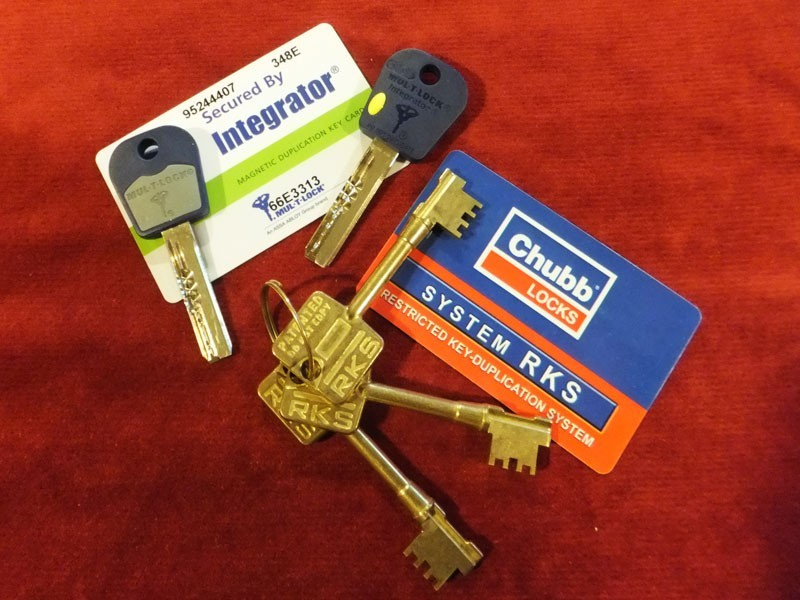 Patented / restricted key systems